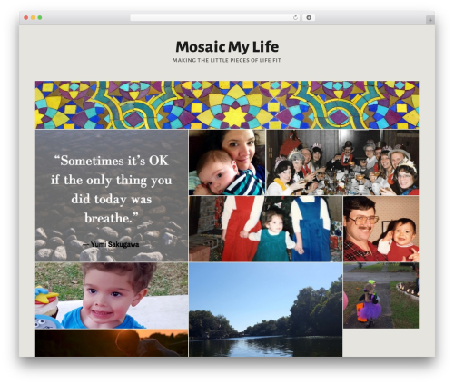 Template WordPress Puzzle - mosaicmylife.com
