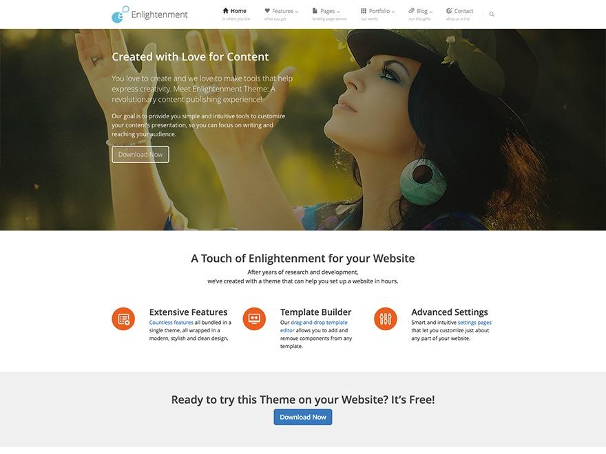 WordPress theme Enlightenment Child