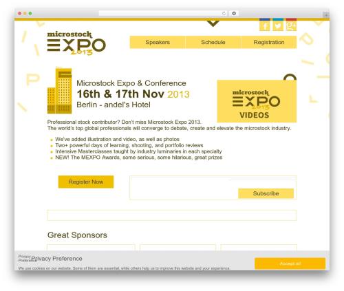 WordPress theme Expo - microstockexpo.com