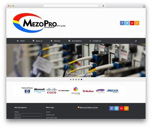 WordPress theme Vantage - mezopro.co.za