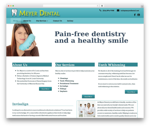 WordPress website template ProStyler Theme - meyerdental.net