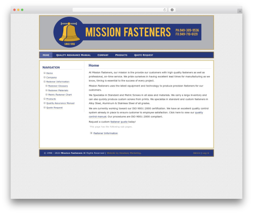 WP template Paalam - missionfasteners.com