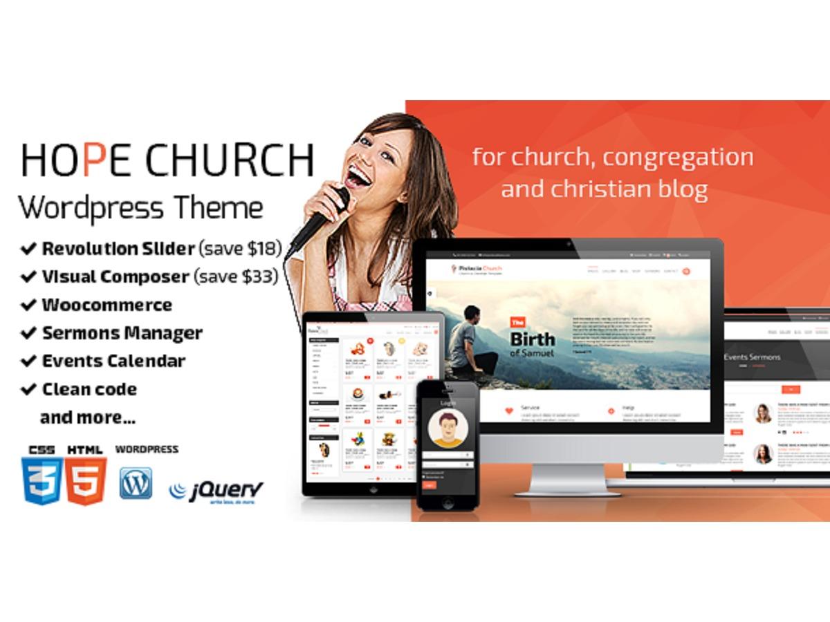 Best WordPress template Hope-Church