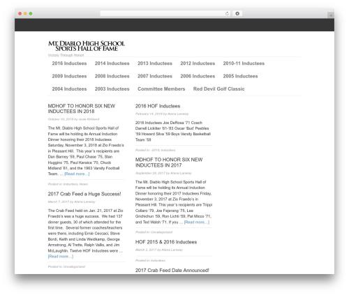 Best WordPress theme Magazine - mdhsshf.org