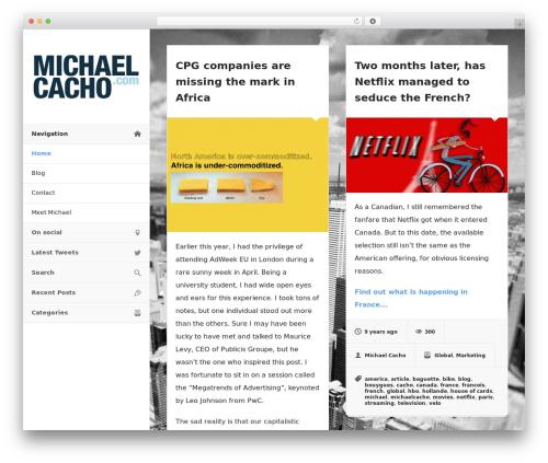 Blogrid template WordPress - michaelcacho.com