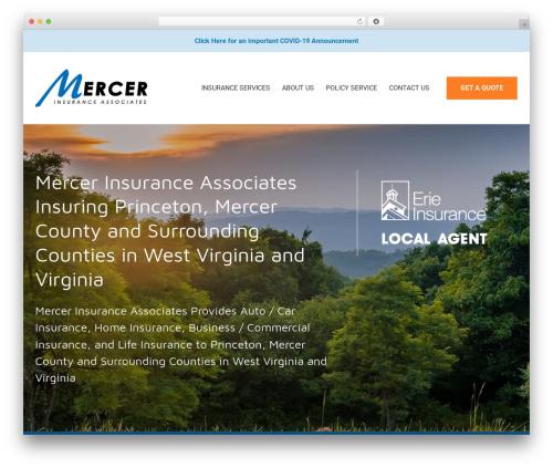 BrightFire Stellar business WordPress theme - mercerinsuranceonline.com