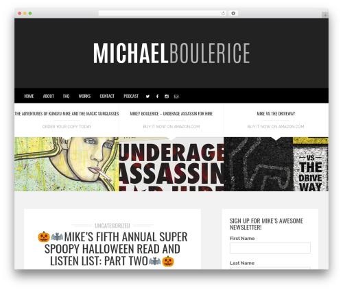 Brixton - Wordpress Theme premium WordPress theme - michaelboulerice.com