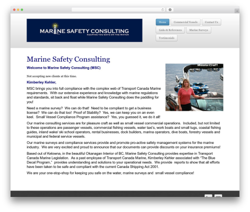 Business Pro 4 WordPress template for business - marineconsulting.ca