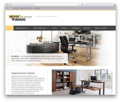 Clockwork WP WordPress theme - meyer-braun.de