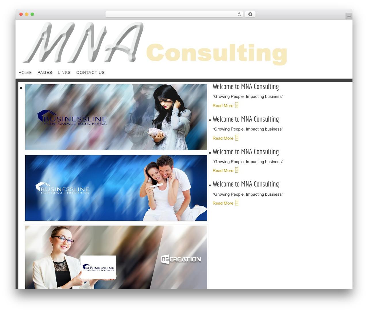 D5 Business Line Extend best WordPress theme - mannanet.co.za