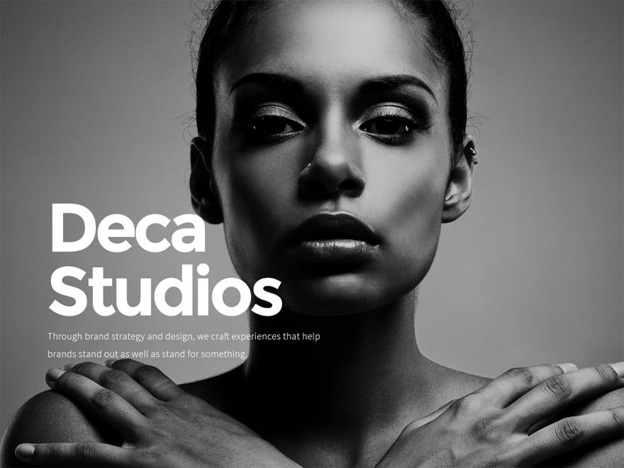DECA WordPress portfolio theme
