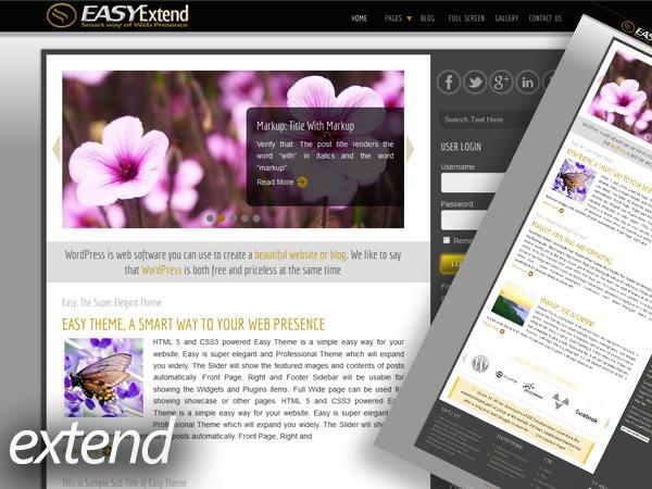 Easy Extend WordPress photo theme