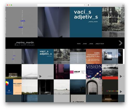 Fullscreen WordPress theme - marinamoron.com