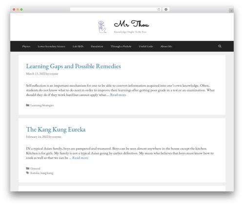 GeneratePress free WP theme - mrthou.com