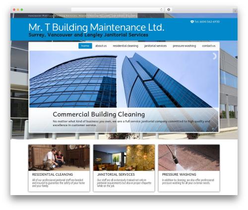 JanitorV6 WordPress theme design - mrtbuildingmaintenance.com