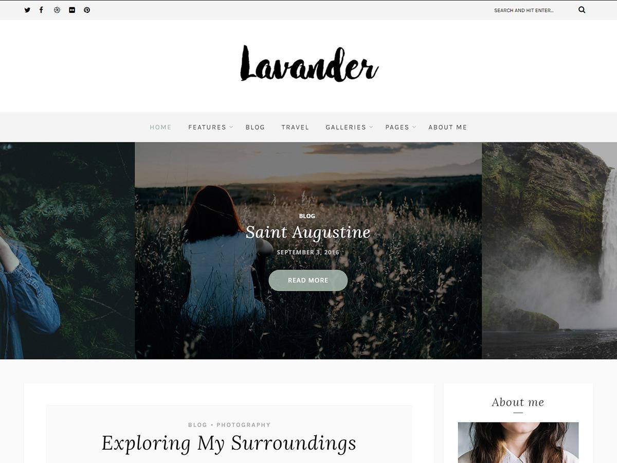 Lavander Lite WordPress blog template