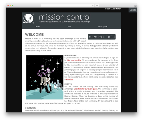 Luminescence Lite premium WordPress theme - missioncontrolsf.org