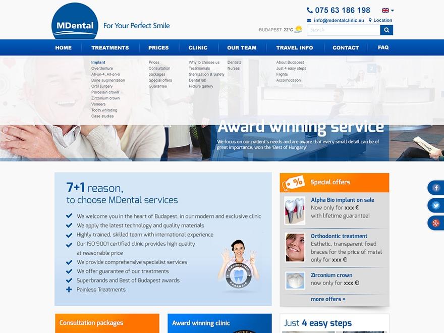 MDental best WordPress template