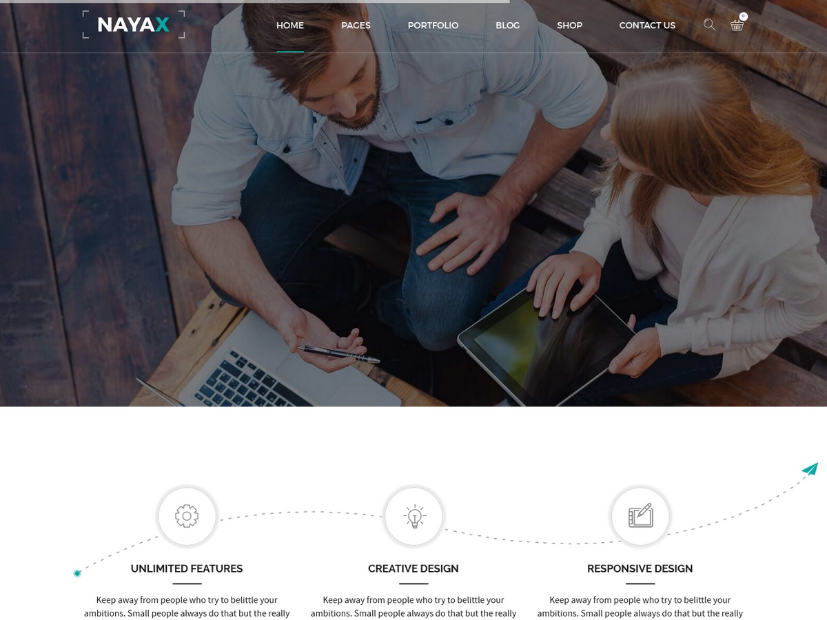 Nayax WordPress theme
