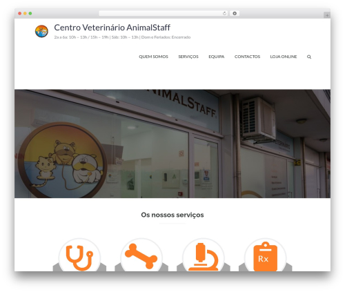 Pet Business best WordPress theme - animalstaff.com