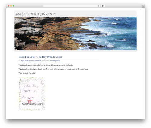 picolight top WordPress theme - makecreateinvent.com