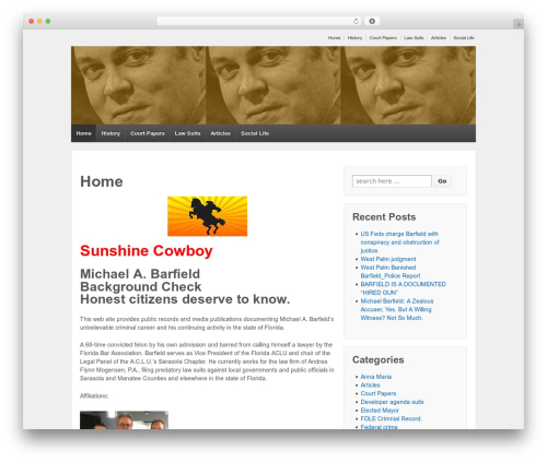 Responsive free WP theme - michaelbarfield.net