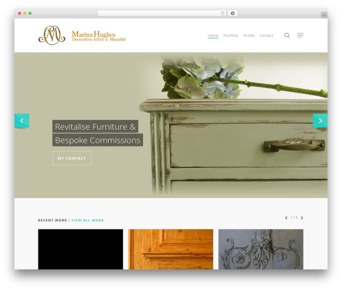 Salient template WordPress - marinahughes.co.uk