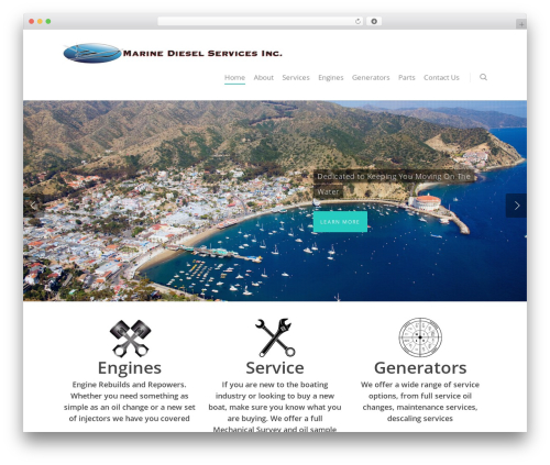 Salient WordPress ecommerce template - marinedieselservice.com