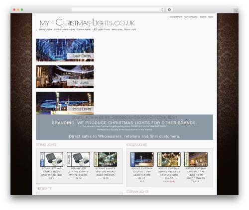 TheJewelryShop WordPress store theme - my-christmas-lights.co.uk