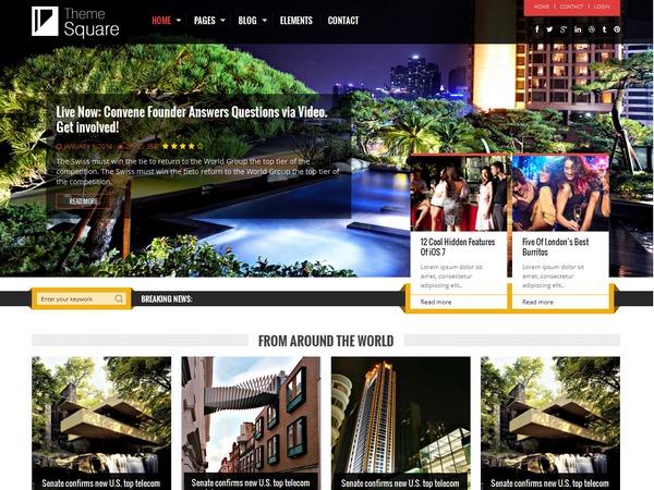 Theme Square WordPress magazine theme