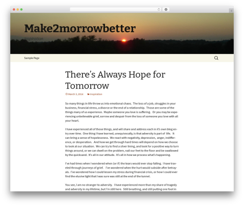 Twenty Thirteen WordPress theme free download - make2morrowbetter.com