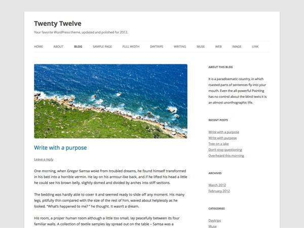 Twenty Twelve Child WordPress website template