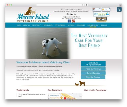 WordPress template Truffles - mercerislandvet.com