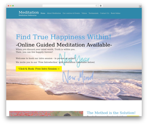 WordPress theme One Page Meditation Guide - melbourne-meditation.org