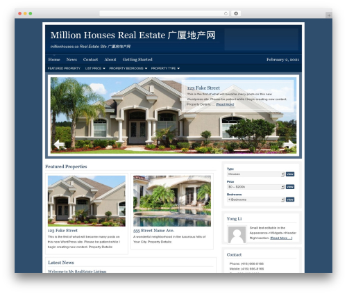 AgentPress Child Theme real estate WordPress theme - millionhouses.ca