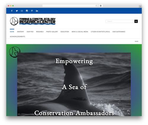 Avada best WordPress theme - marine-eco.org