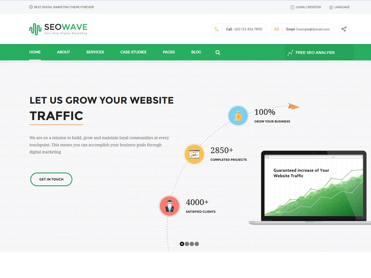 Best WordPress template SEOWAVE