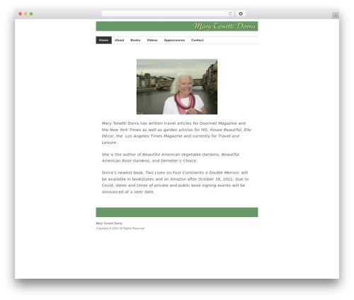 Builder WordPress theme - marydorra.com