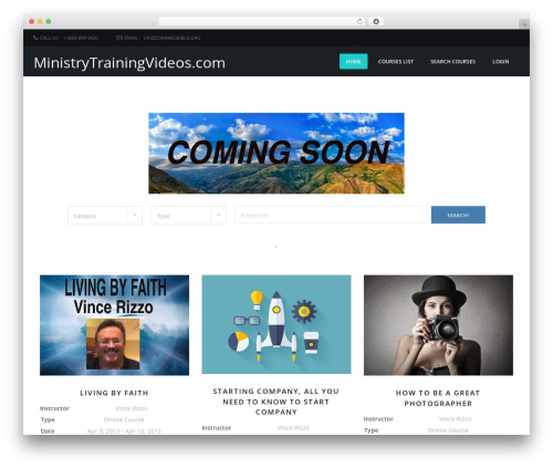 Course Theme template WordPress - ministrytrainingvideos.com