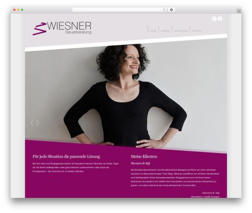 Crown WordPress theme - michaela-wiesner.at