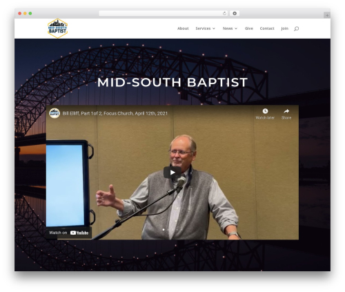 Divi theme WordPress - midsouthbaptist.com