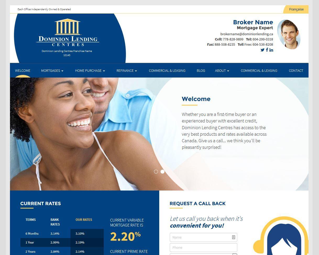 Dominion Lending Centres - Contemporary Template theme WordPress