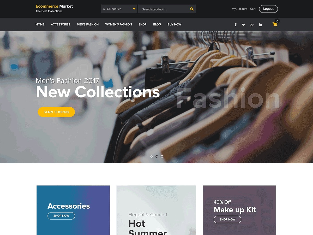 eCommerce Market WordPress shopping theme