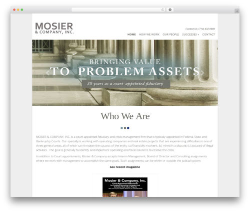 Flexible company WordPress theme - mosierco.com