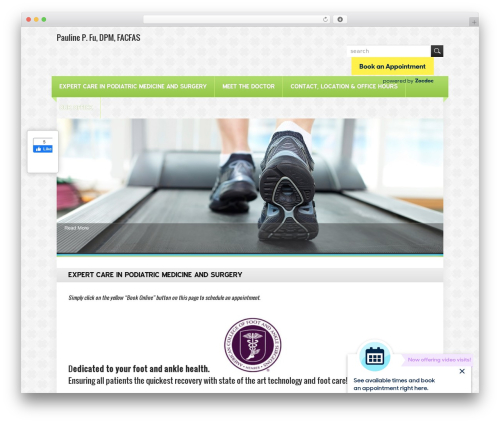 HealthCare free WordPress theme - midtownfootcare.com