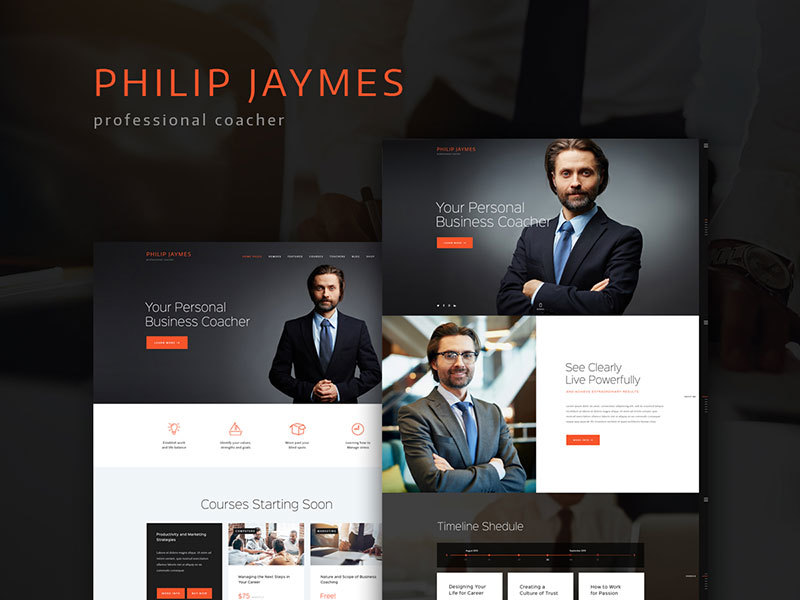 PJ company WordPress theme
