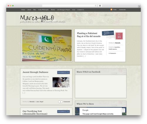Postcard template WordPress - marco-yolo.com