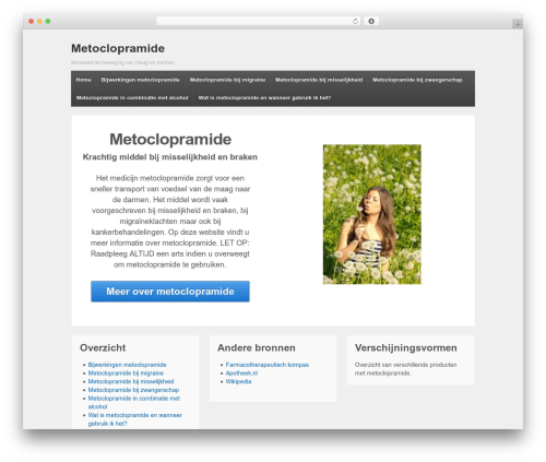 Responsive template WordPress free - metoclopramide.nl