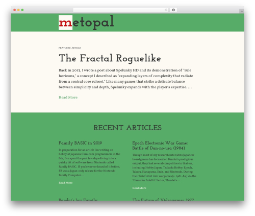 The HTML5 Reset Theme WordPress website template - metopal.com