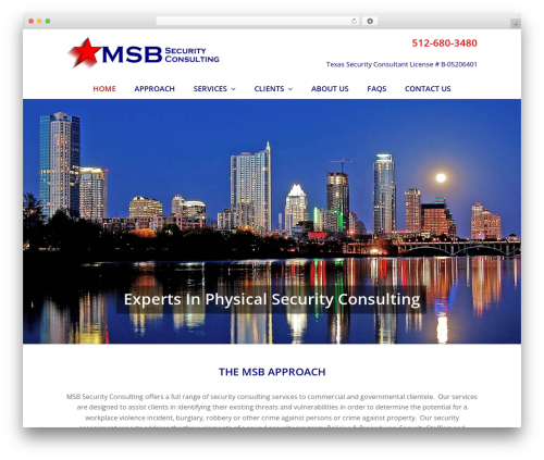 Total best free WordPress theme - msbsecurityconsulting.com